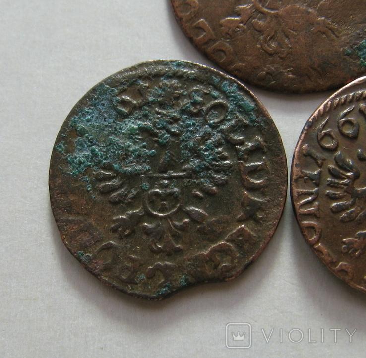 62. Солиды. Боратинки 1661 года. Ян ІІ Казимир Ваза ( 3 штуки )., фото №11
