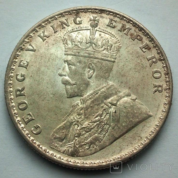 Британская Индия 1 рупия 1919 г., фото №2