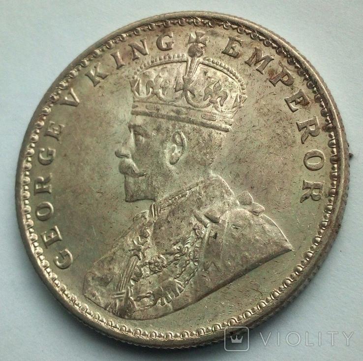 Британская Индия 1 рупия 1919 г., фото №7