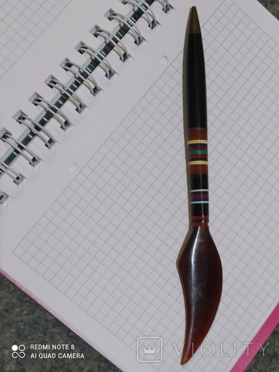 Ручка с янтарём., фото №2