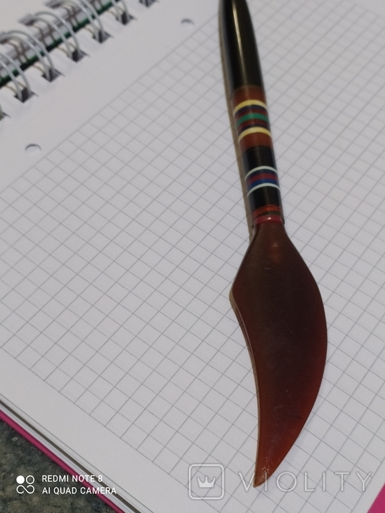 Ручка с янтарём., фото №3