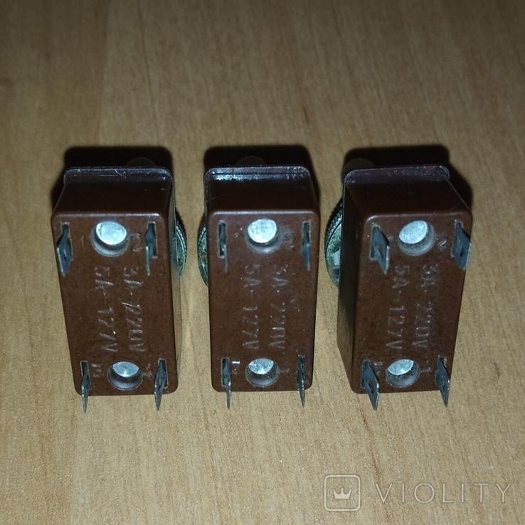 Тумблеры, переключатели Т2 , СССР, 3 штуки, фото №8