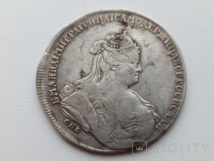 Рубль 1738 СПБ (R - по Биткину), фото №2