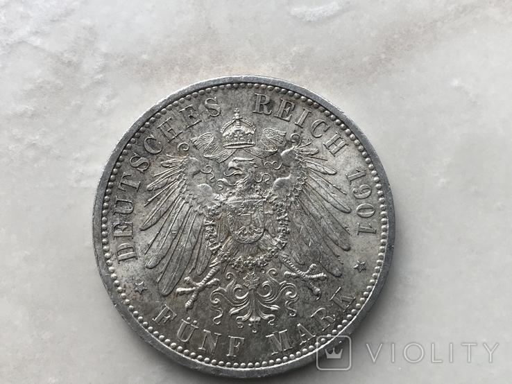 5марок-1901р. 200років Прусії, фото №3