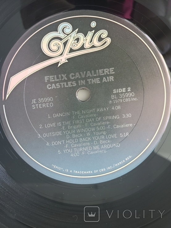 "Платівка ""Felix Cavaliere Castles In The Air"" 1979, фото №6"