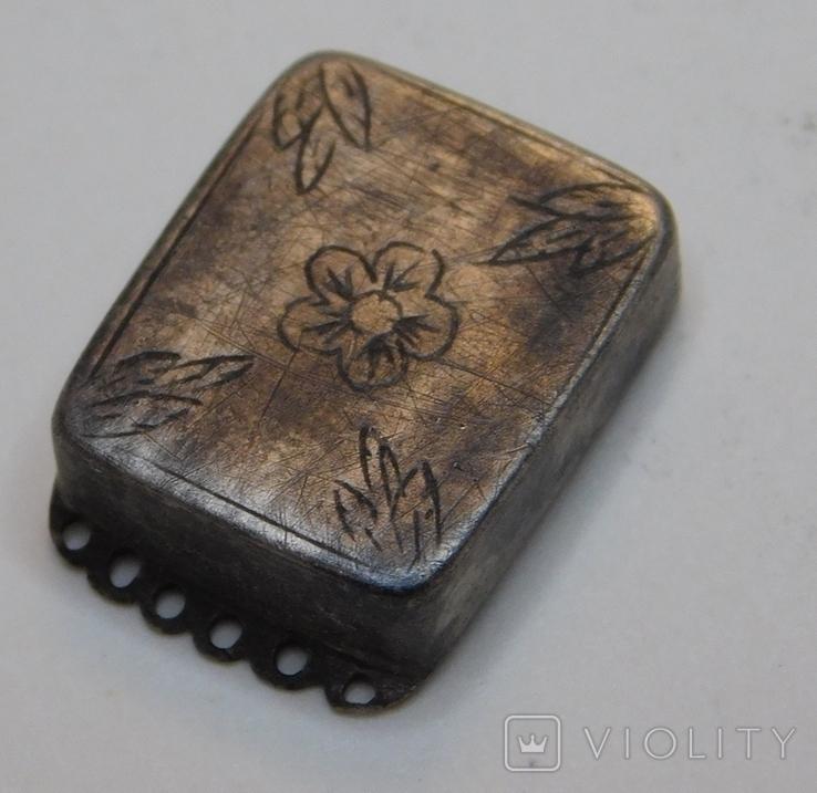 Окончание браслета серебро, фото №3