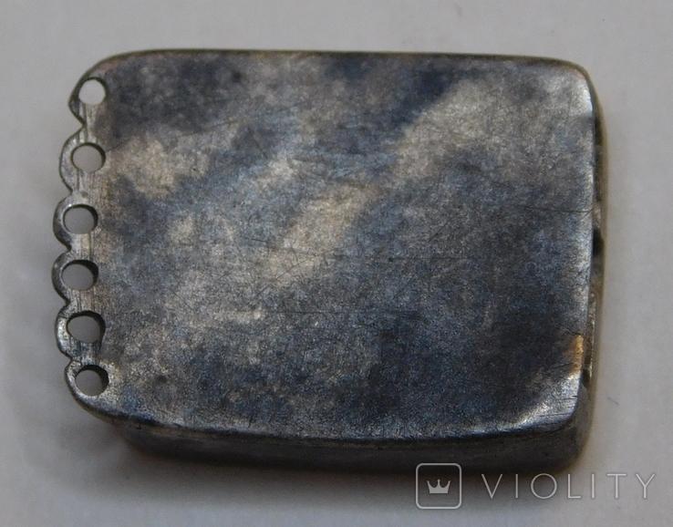 Окончание браслета серебро, фото №4