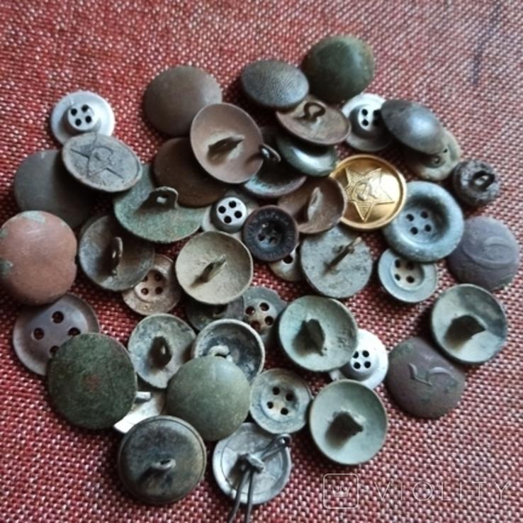 Старые разные пуговицы., фото №5