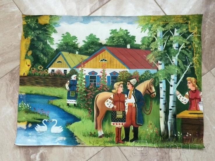 Народная картина 72.5 х 52.5 см, фото №2