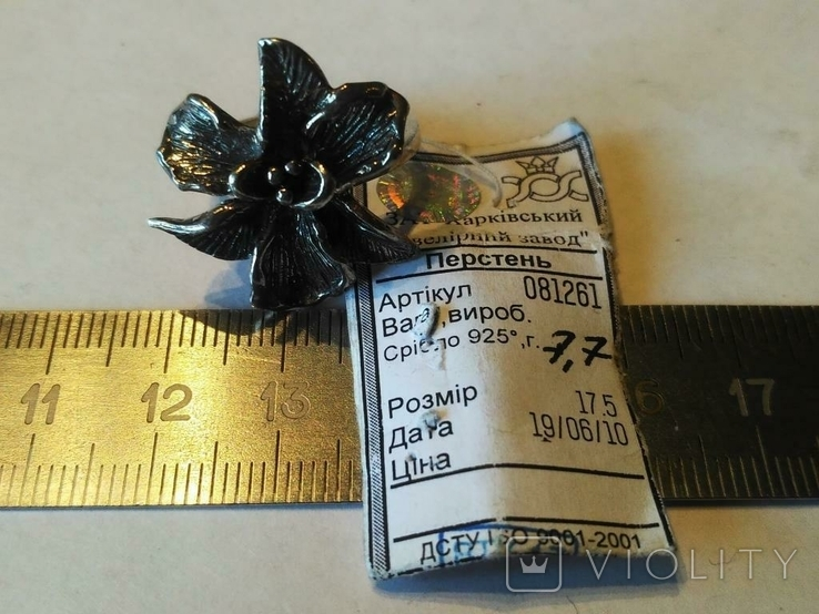 Гарнитур кольцо и серьги ( Новый .. 23 гр.) серебро, фото №3