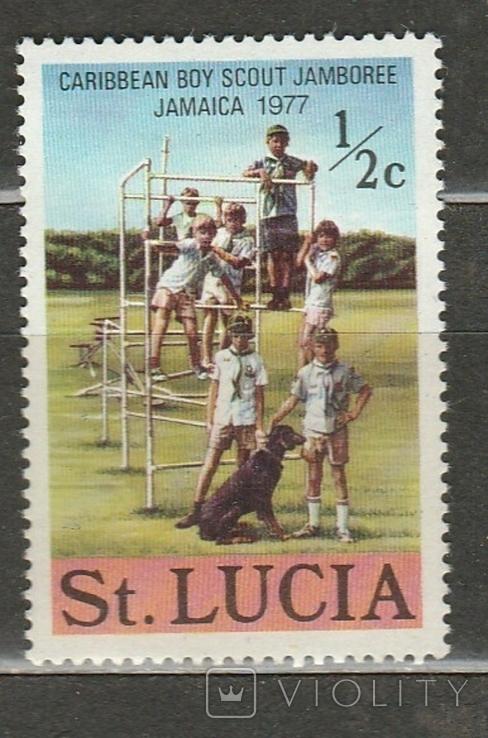 287 Сент Люссия 1977 лагерь скаутов