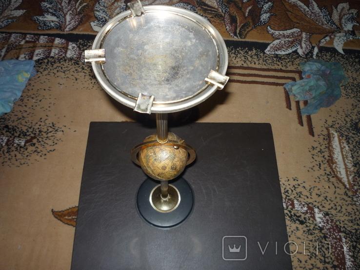 Офисная большая пепельница с глобусом венгрия, фото №10