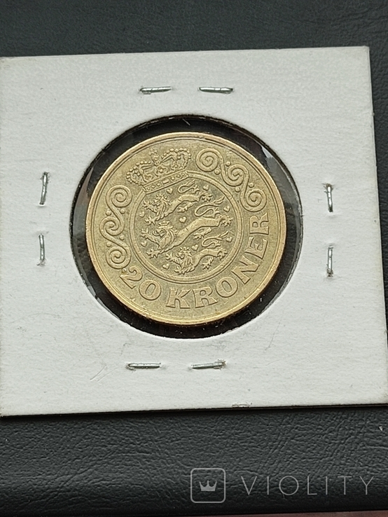 20 крон Дания 1991 год, фото №3