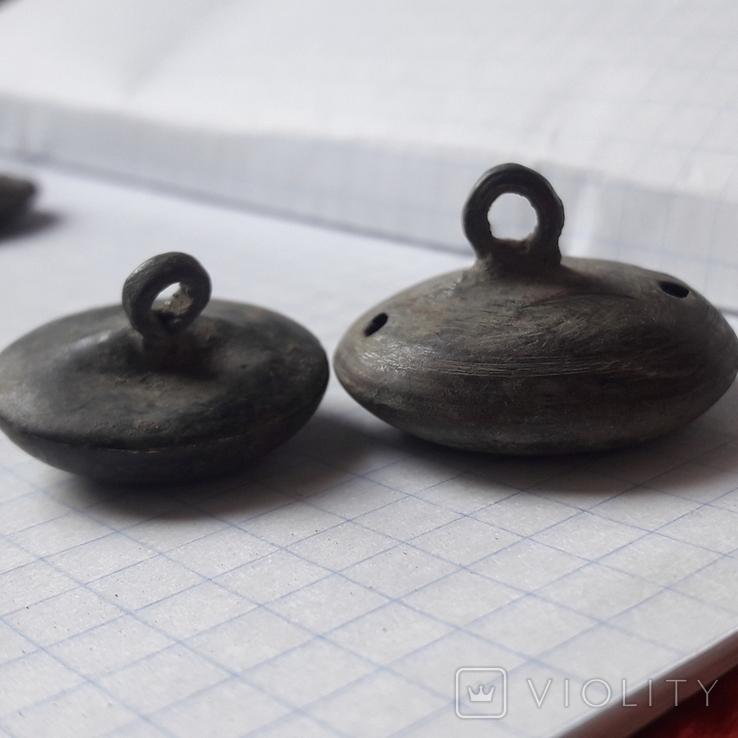 Пустотелые древние пуговицы бронза и не только, 18 шт, фото №4