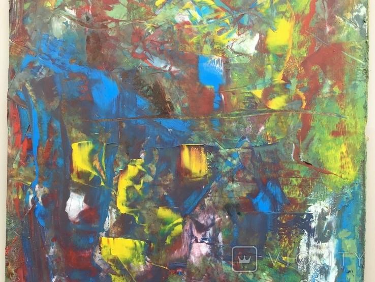 Картина двп., масло 48 х 24,5 см. Абстракция., фото №5