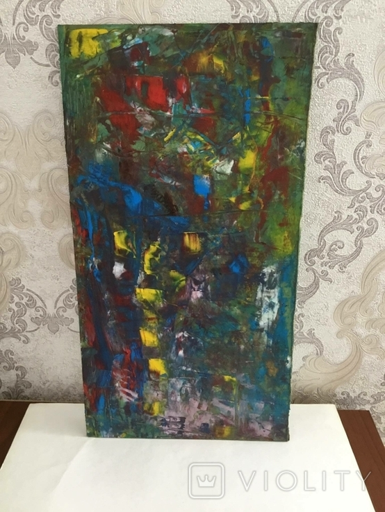 Картина двп., масло 48 х 24,5 см. Абстракция., фото №2