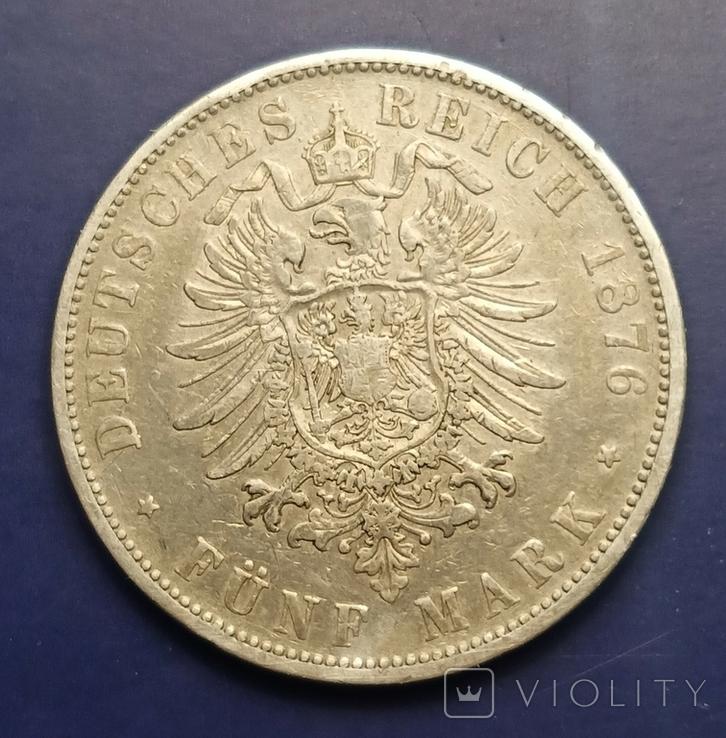 5 марок 1876 р. Вюртемберг, фото №5