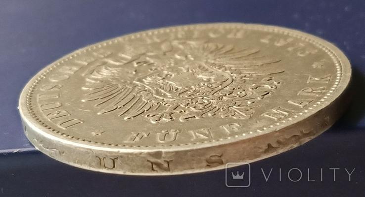 5 марок 1876 р. Вюртемберг, фото №9