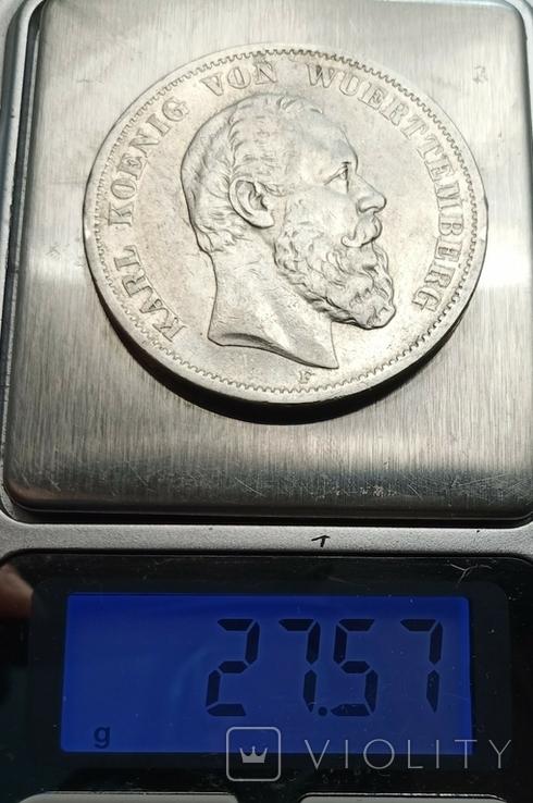 5 марок 1876 р. Вюртемберг, фото №11