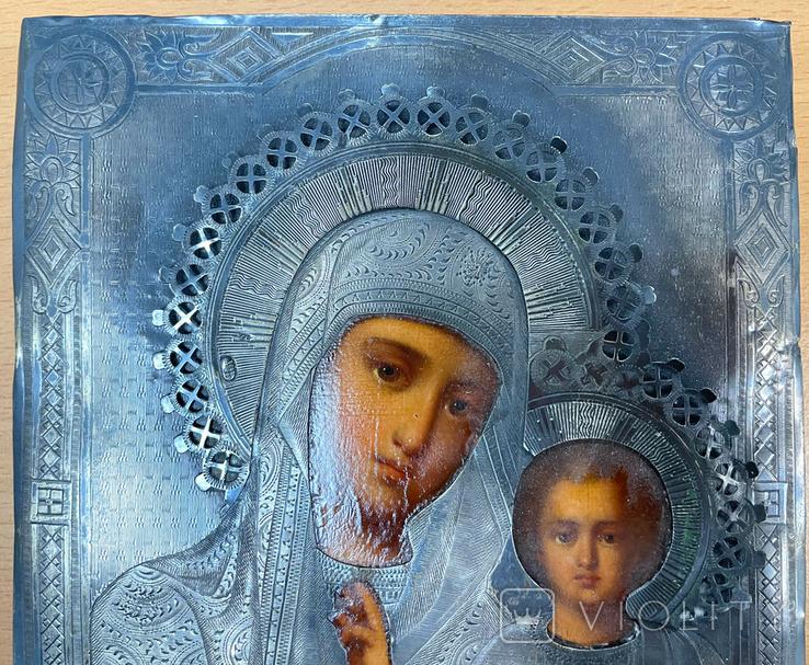Пара венчальных икон в серебряном окладе, фото №5