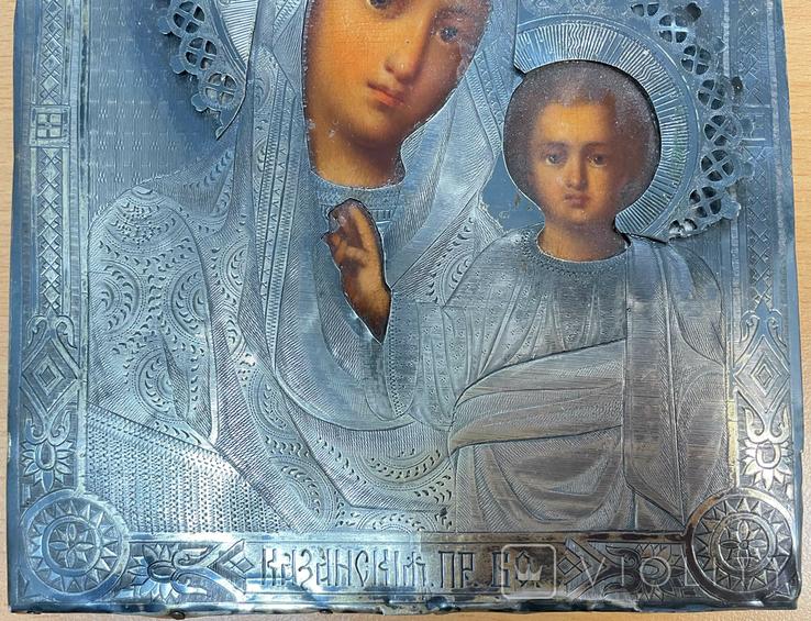 Пара венчальных икон в серебряном окладе, фото №6