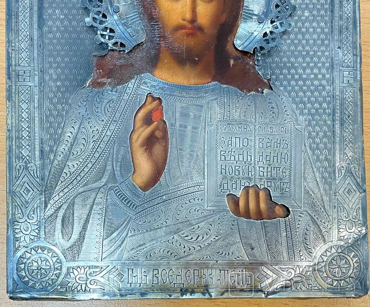 Пара венчальных икон в серебряном окладе, фото №11