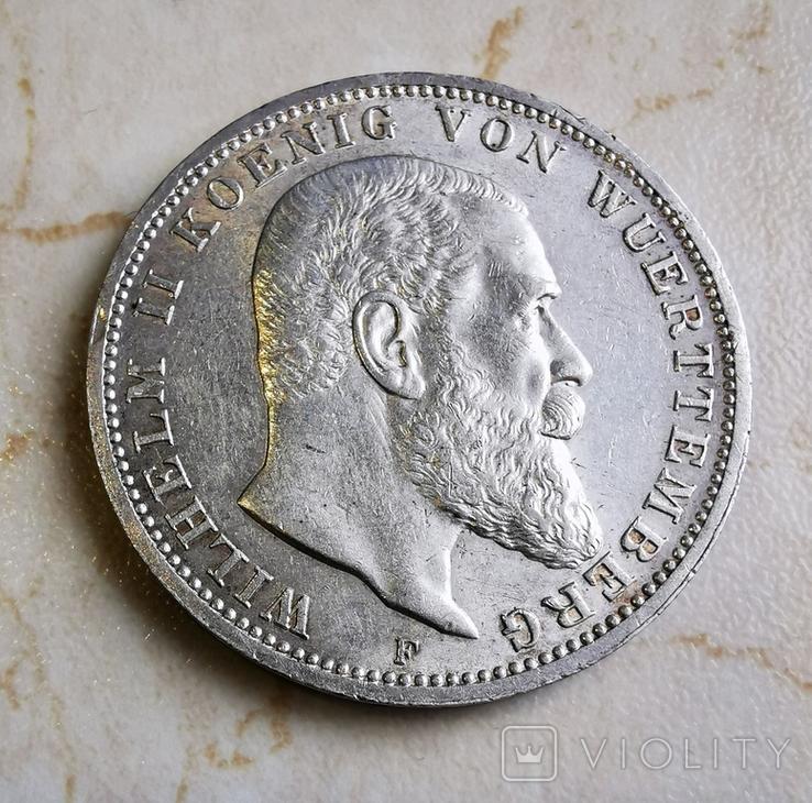 3 марки вюртемберг 1914, фото №2