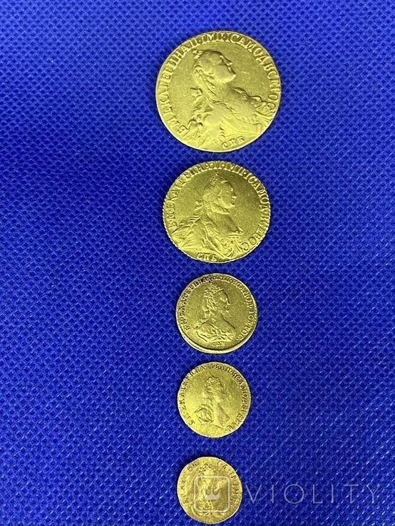 Полная Коллекция Екатерины Второй 5 монет, фото №2