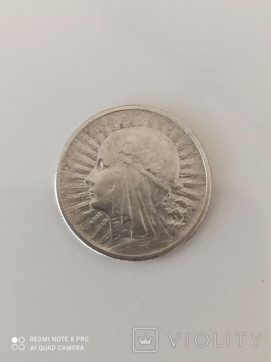 2 злотых 1933г, фото №2