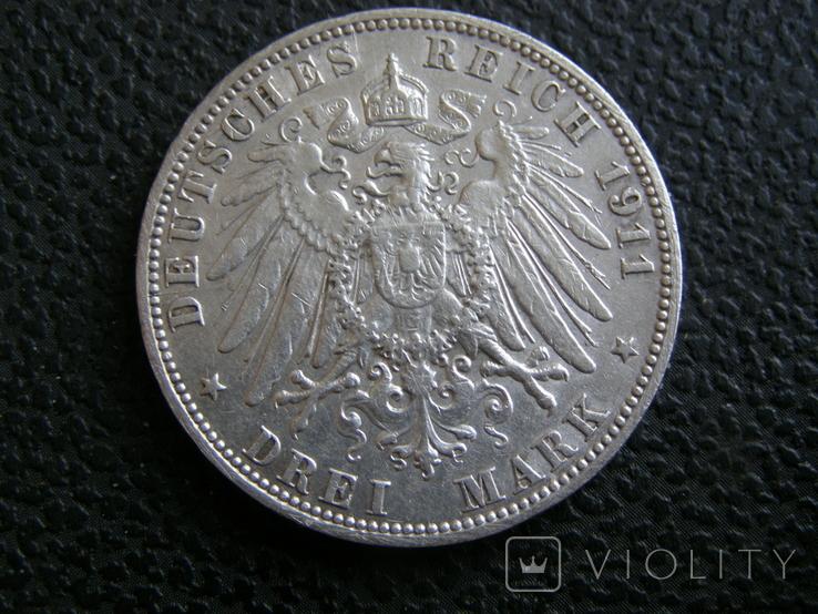 3 марки 1911 J Гамбург, фото №3