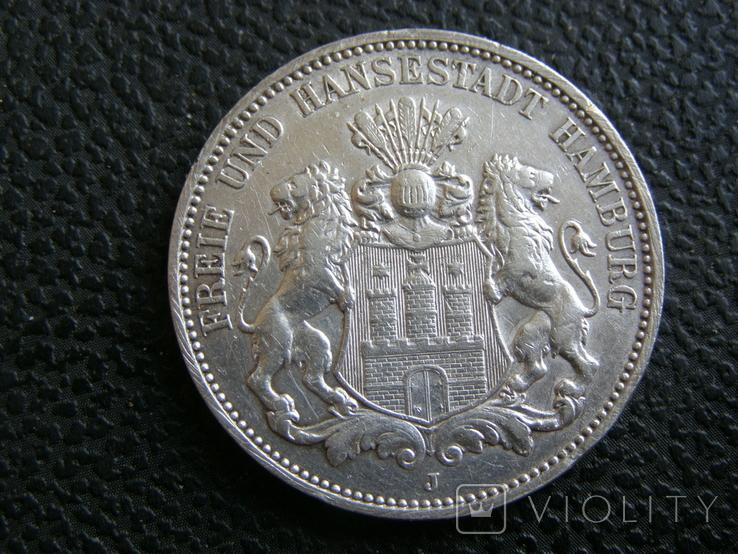 3 марки 1911 J Гамбург, фото №4