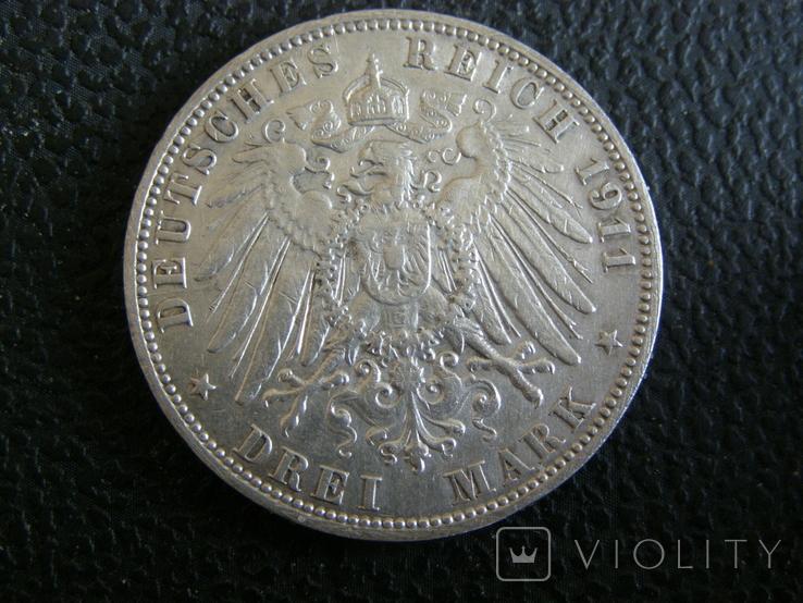 3 марки 1911 J Гамбург, фото №5