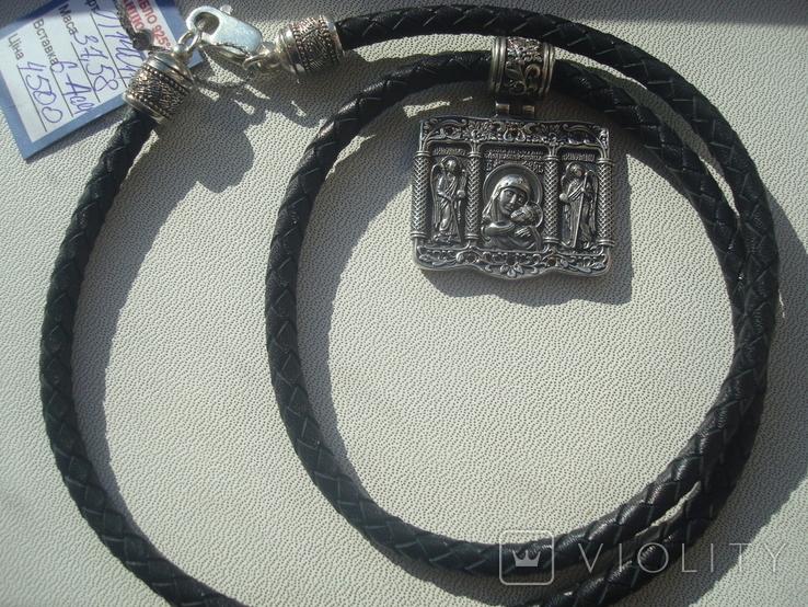 Касперовская икона Божией Матери серебро 925, фото №5