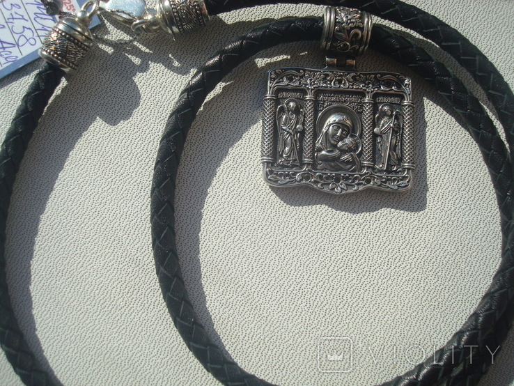 Касперовская икона Божией Матери серебро 925, фото №7
