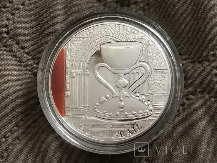 Святой Грааль 2 доллара Ниуэ 2013, фото №4