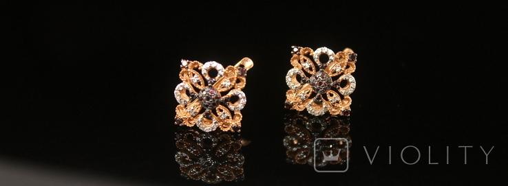 Золото Золотые серьги Женские серёжки 585, фото №7
