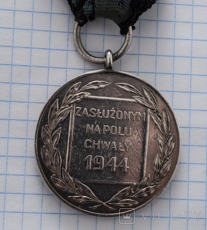 """Медаль """"Заслуженим на полі хвали"""", фото №6"""