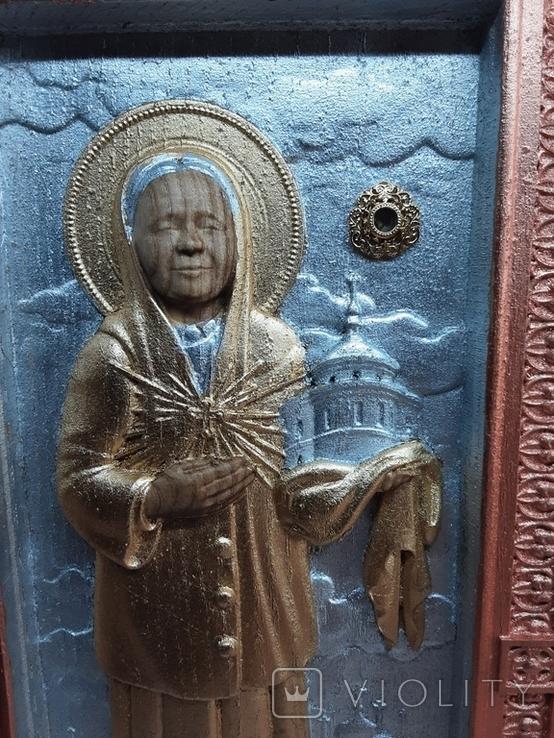 Мощевик-икона Святая Матрона Московская с частицей., фото №5
