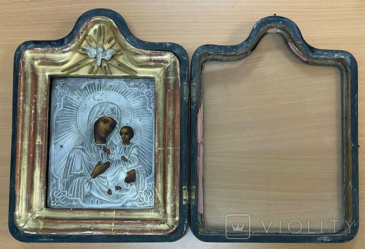 Икона Богородицы в серебряном окладе 84 пробы, фото №5