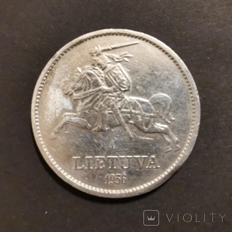 10 лит 1936 р.Литва,Перша республіка, фото №2