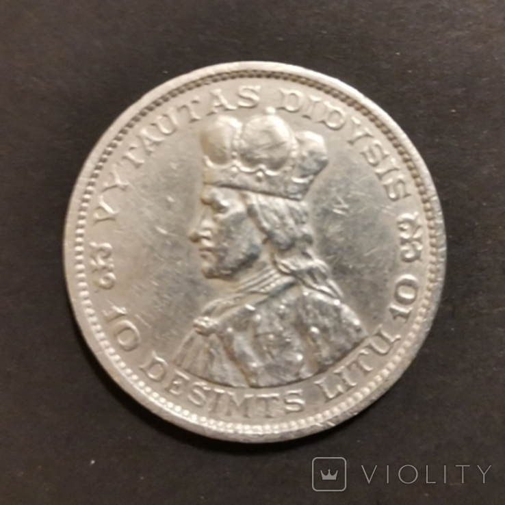10 лит 1936 р.Литва,Перша республіка, фото №3