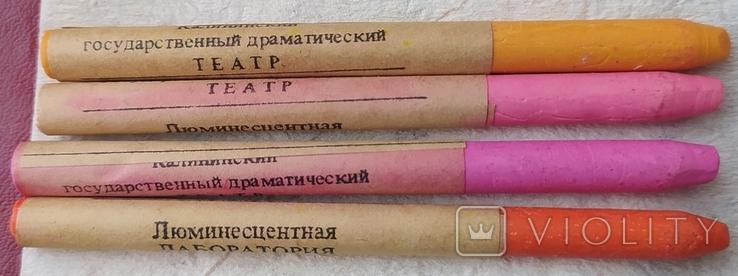 Люминесцентные карандаши СССР 4 шт., в коробке., фото №5