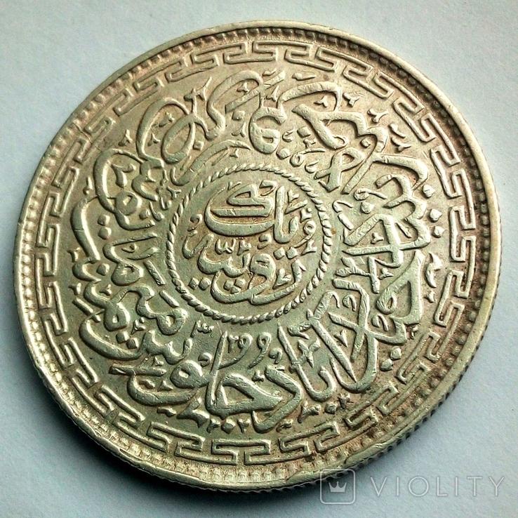 Британская Индия, княжество Хайдарабад 1 рупия 1914 г., фото №6