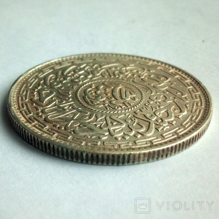 Британская Индия, княжество Хайдарабад 1 рупия 1914 г., фото №8