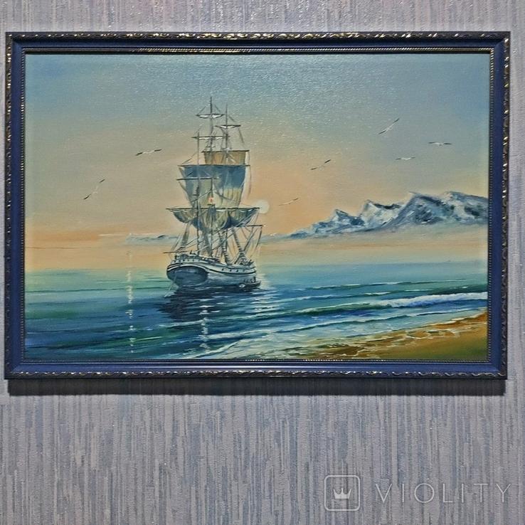 Картина художник Иванов Э.Н. 2017 г размер 40 х 60, фото №2