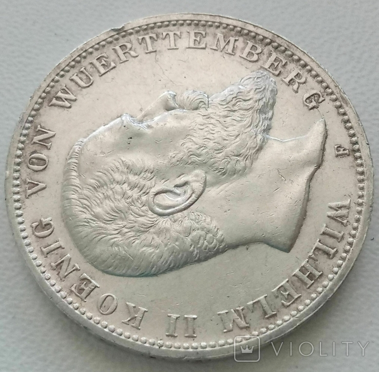 Вюртемберг 3 марки 1914 года, фото №3