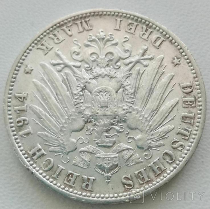 Вюртемберг 3 марки 1914 года, фото №8