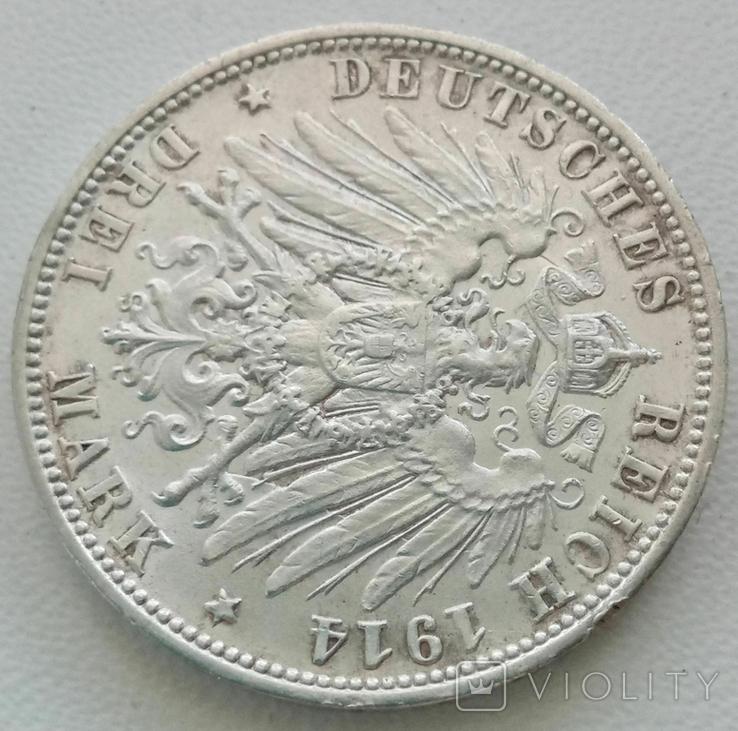 Вюртемберг 3 марки 1914 года, фото №9