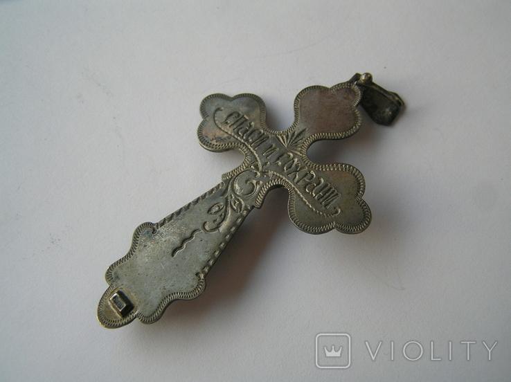 Большой нательный крестик серебро 925, фото №4