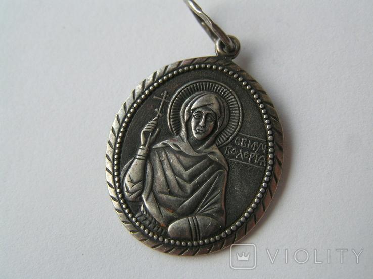 Ладанка иконка серебро Святая Великомученица Валерия 925, фото №2